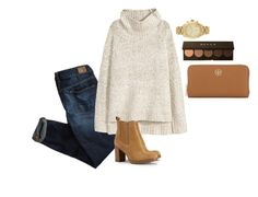 """""""sweater weather"""" by joannaclark4 on Polyvore featuring American Eagle Outfitters, H&M, Tory Burch, Becca and Michael Kors"""