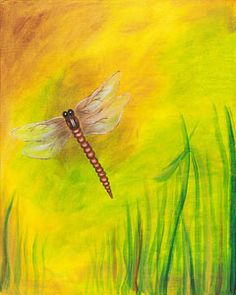 """Social Artworking Canvas Painting Design - Dragonfly Dreams  CANVAS SIZE:  16"""" x 20""""  TIME TO PAINT:  approximately 2 hours"""