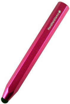 Chunky Pencil-Like Capacitive Stylus Pen - Aluminum Hot Pink (For Kindle Fire, iPad, iPad 2, Motorola Xoom, BlackBerry Playbook, HTC Flyer, Samsung Galaxy Tab, Asus Transformer, iPhone 4, iPod Touch and All Touch Screen Tablets)