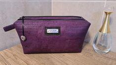 Trousse Zip-Zip en liège luxe violet cousue par Magalie - Patron Sacôtin