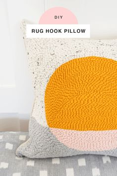 DIY Rug Hook Pillow by top Houston lifestyle blogger Ashley Rose of Sugar and Cloth #rughook #diy #poillow #craft #diypillow #doityourself #pillowcase #homedecor #diydecor