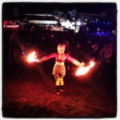 Fire Dancers at the Festival