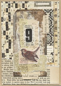Viola: birds and nature collage Mixed Media Journal, Mixed Media Collage, Nature Collage, Paper Collage Art, Paper Art, Art Journal Pages, Junk Journal, Art Journals, Small Journal
