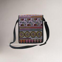 Novica Hmong Pride Cotton Shoulder Bag