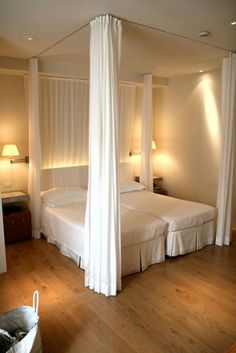 4 Post Bed Curtains thermal delight in architecturelisa heschong | canopy, linen