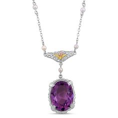 The Zuri Pendant, 1920's amethyst