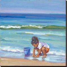 Stretched Canvas Print: Beach Babe by Lucelle Raad : 30x30in
