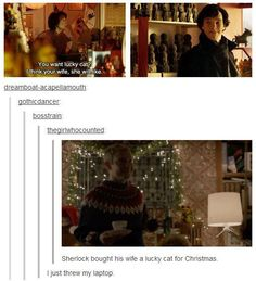 Hahahaha oh my! (also, though I'm pretty sure you all already know, I DO NOT ship Johnlock. Friends that love each other, yes, but NOT lovers!!!)