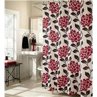 Flora Lipstick Easy%26#45;Care Microfiber Fabric Shower Curtain