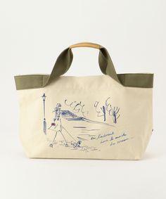 組曲の【Miyuki Ohashi×KUMIKYOKU】Parisプリントキャンパス トートバッグです。こちらの商品はONWARD CROSSETにて通販購入可能です。