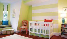 Grün-gelbes Kinderzimmer