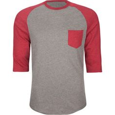 Baseball Tee's are in. they look good on guys cause they widen the look of the shoulders