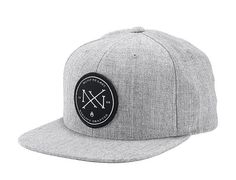 Creed Heather Grey Snapback Cap by NIXON