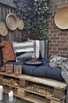 # garden furniture # pallet furniture # garden decoration # garden decoration You are in the right place for western home decor When it comes to designing your dream home, the first things tha Pallet Furniture, Garden Furniture, Home Furniture, Furniture Ideas, Barbie Furniture, Furniture Design, Fireplace Furniture, Pallet Sofa, Furniture Makeover