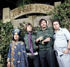 Michael Fielding as Naboo, Noel Fielding as Vince Noir, Julian Barrett as Howard Moon and Rich Fulcher as Bob Fossill The Might Boosh.