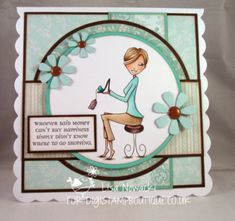 Hello everyone :o) I'm here with my DT card for DigiStamp Boutique , using a new image called Rach Loves Shoes .