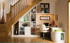 Stylish Understairs Study. I love this!