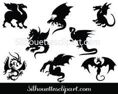 Dragon Silhouette Vector Art