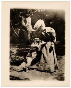 Lillian Bridgman and dog