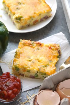 Serve a crowd this Healthy Denver Omelette Egg Bake or make it for meal-prep for the week! Either way, it's high in protein, only requires a few ingredients, and will become a staple in your kitchen.