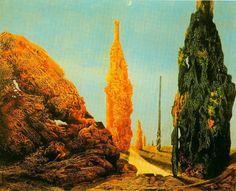Max Ernst (German 1891–1976) [Dada, Surrealism] Lone Tree and United Trees, 1940. Thyssen-Bornemisza Collection, Lugano-Castagnola, Madrid, Spain.