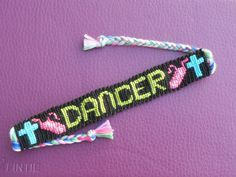 Dancer Friendship Bracelet pattern number 10438 - For more patterns and tutorials visit our web or the app!