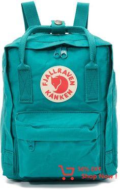 Fjallraven Kanken Mini Daypack Ocean Green -- Visit the image link more details. Mochila Kanken, Fjallraven Kanken Mini, Kanken Backpack, Mini Kanken, Backpack Outfit, Tumi, Kendall And Kylie, Cambridge Satchel, Herschel