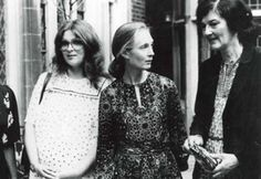 """These three scientists are all incredible women who devoted themselves to studying apes; collectively they comprise Leakey's Angels, so named because they all worked with archaeologists Louis and Mary Leakey. They are Jane Goodall, Dian Fossey, and Biruté Galdikas. The name """"Leakey's Angels"""" was coined by Galdikas, first used in her book Reflections of Eden(1995) – a nod to the fact that she met Leakey in Los Angeles, the City of """"Angels""""."""