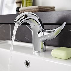 The Freya basin tap is perfect for enhancing any modern bathroom