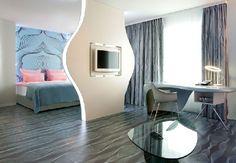 Modern Nhow Hotel Interior Design by Karim Rashid in Spree River Berlin