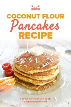 Almond Flour Keto panqueca - Low Carb e latic nios gr tis Ketogenic Recipes, Paleo Recipes, Low Carb Recipes, Cooking Recipes, Ketogenic Diet, Coconut Flour Pancakes, Coconut Flour Recipes, Heathy Pancakes, Making Pancakes