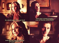 Find images and videos about the vampire diaries, The Originals and candice accola on We Heart It - the app to get lost in what you love. Klaus And Caroline, Caroline Forbes, The Vampire Diaries 3, Vampire Diaries The Originals, Hysterically Funny, Lights Camera Action, Vampire Dairies, Mystic Falls, Moving Pictures