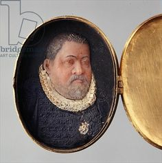 Locket containing wax miniature portrait of Landgrave Wilhelm IV (wax and gold plated silver)