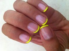Neon french nails. Great for summer!