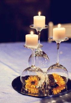 beautiful and clever idea for centerpiece