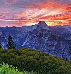 Half Dome at Yosemite National Park in California, USA