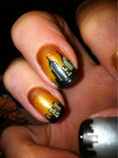 skyscraper nail art #nailart
