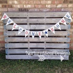 Military Homecoming Banner/ Welcome Home Banner/ Military Decoration/ Homecoming Bunting/ Red White and Blue Burlap Banner/ Military Banner by NurturedSoulDesigns on Etsy https://www.etsy.com/listing/190268867/military-homecoming-banner-welcome-home