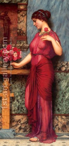 An Offering To Venus John William Godward | Oil Painting Reproduction | 1st-Art-Gallery.com