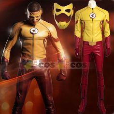 The Flash season 3 Wally West Kids Flash cosplay costume superhero Halloween…