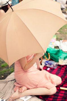 The romance of a pink umbrella.