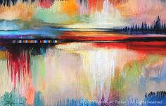 """Abstract Painting, Contemporary Art, """"Mixed Reflections"""" Artist Tim Parker - Art2D Gallery, Modern Art Original Paintings and Fine Art Prints"""