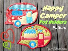Happy Camper Quilted Pot Holders!