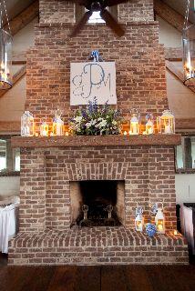 Mantle decor at the River Dunes Harbor Club for a reception. { Photo by McCardell Photography } North Carolina Coast, Room Ideas, Decor Ideas, Wedding Decorations, Wedding Ideas, Wedding Receptions, Wedding Wishes, Mantle, Pavilion
