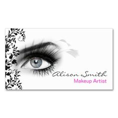 MakeUp artist business card. This great business card design is available for customization. All text style, colors, sizes can be modified to fit your needs. Just click the image to learn more!
