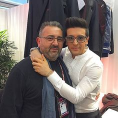 #Repost from @barone_piero with @ig_saveapp. My father came to VIENNA to support me and Il Volo!! Love u DAD @eurovision #final