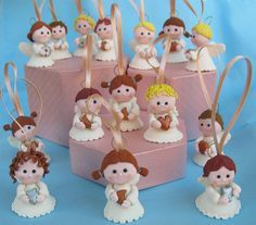 Sweet hanging angels - handmade clay favors by PassionArte, via Flickr