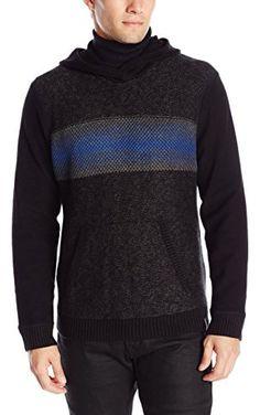 Calvin Klein Jeans Men's Electric Stripe Hoodie Sweater, Sodalite, Large ❤ Calvin Klein Jeans Men's Collection