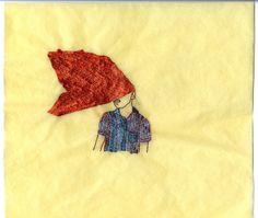 "Wura-Natasha Ogunji 2014 ""Hair"" Thread, ink, graphite on paper 12 x 13 inches"
