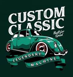 Motos Vintage, Cool Car Drawings, Automotive Logo, Beetle Car, Kustom Kulture, Car Posters, Pinstriping, Cute Cars, Vw Beetles